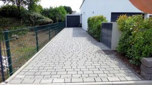 Garageneinfahrt-Hydropor La-Strada Steingrau