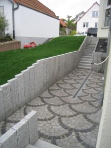 Treppe mit Stehlen