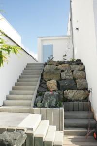 Treppe versetzt